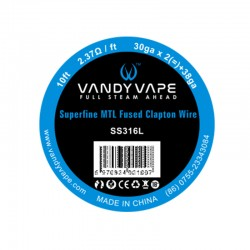 Vandy Vape Superfine MTL wire SS316L 30GA + 38GA